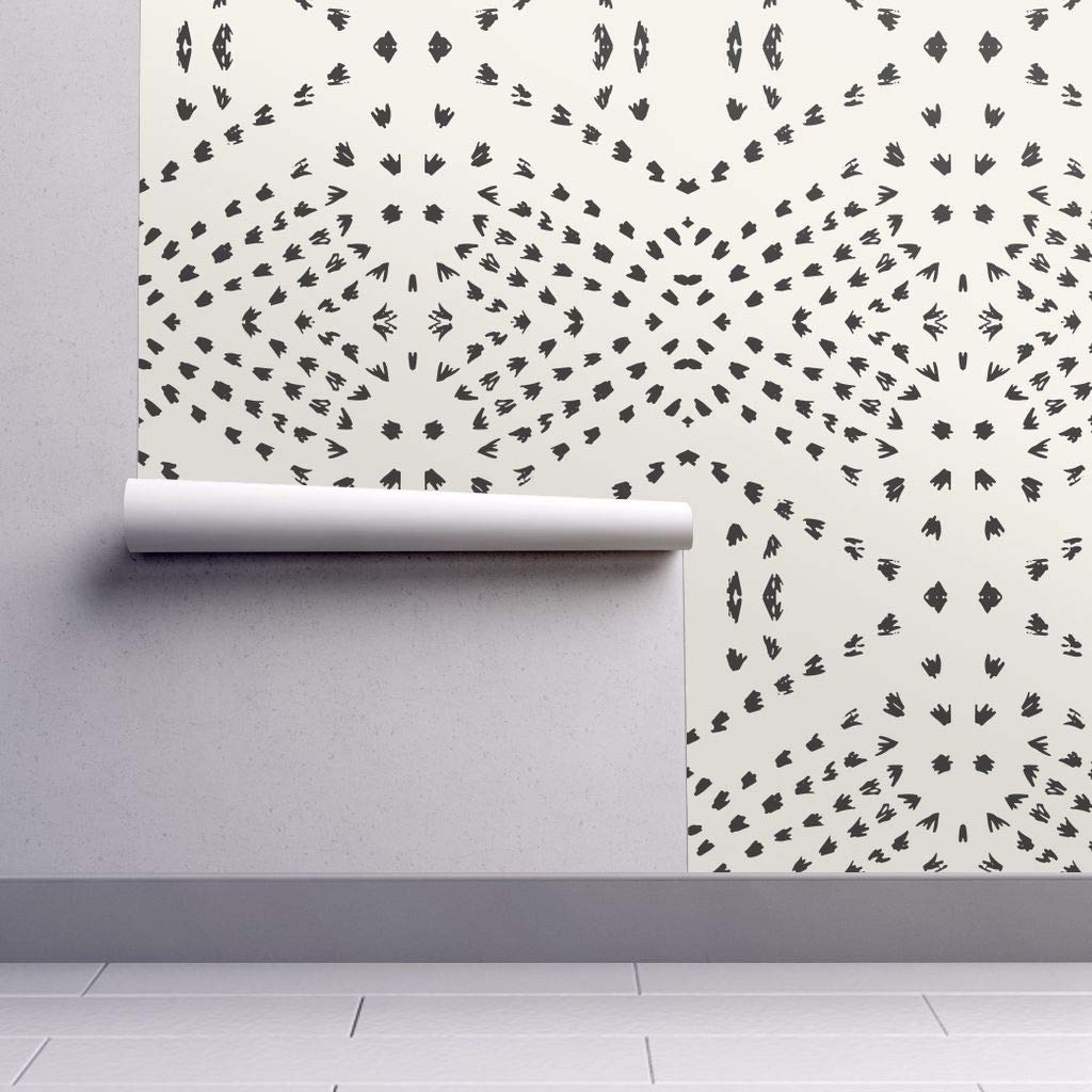 Peel And Stick Removable Wallpaper Boho Tile Dot Bohemian