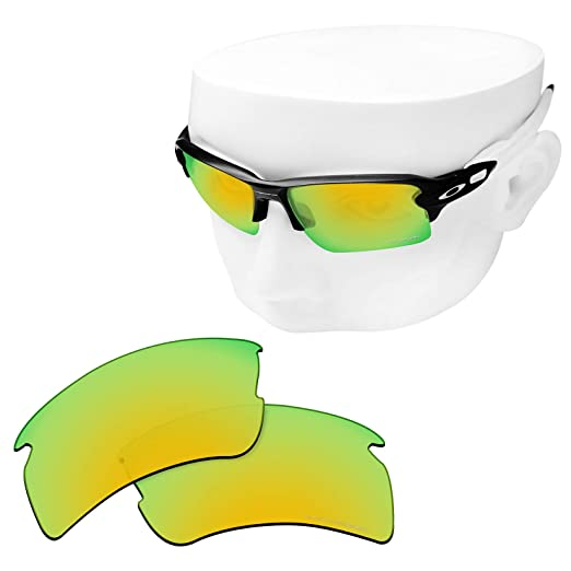 a51caa6549 OOWLIT Replacement Lenses Compatible with Oakley Flak 2.0 XL Sunglass 24K  Combine8 Polarized