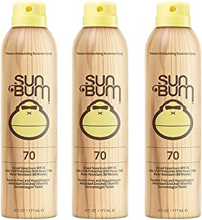 product image for Sun Bum Continuous Spray ZQJlS Sunscreen, SPF 70 (3 Pack)