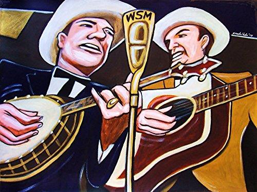 (EARL SCRUGGS & LESTER FLATT PRINT POSTER Country music bluegrass guitar Banjo cd record album lp art )