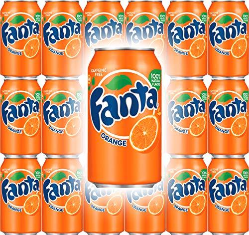 (Fanta Orange Soda, 12 Fl Oz Cans (Pack of 18, Total of 216 Fl Oz))