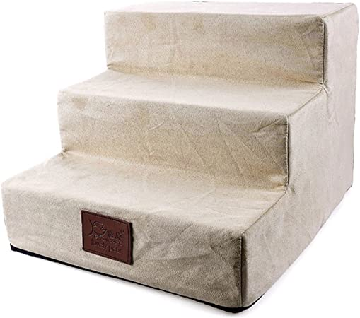 Zehui Escalera para mascotas extraíble con 3 peldaños para cachorros, gatos, cómodos, escaleras de cama, portátil, extraíble y lavable: Amazon.es: Hogar