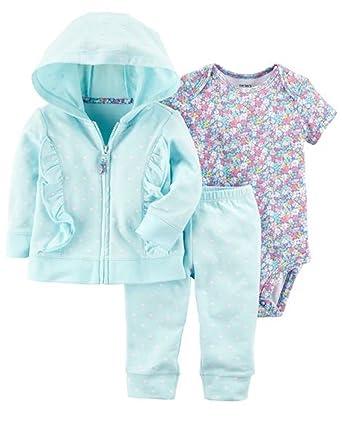 e4de9db61 Amazon.com  Carter s Baby Girls  3-Piece Little Jacket Set  Clothing