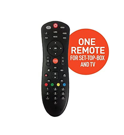 Compatible Dish TV Universal Set Top Box Remote Control (Black)