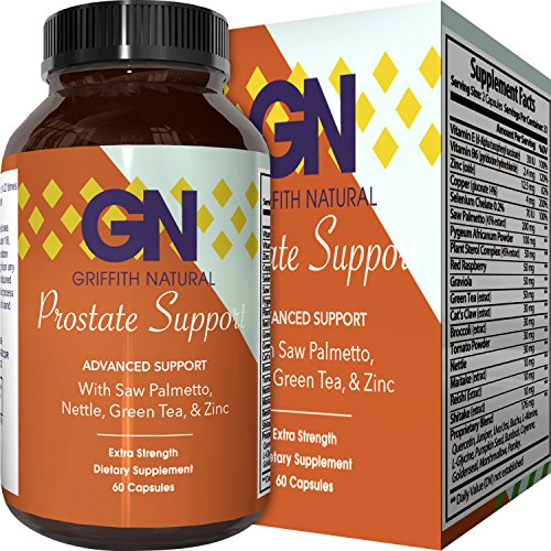 Prostate Support Prostate Supplement For Men + Natural Formula With = Saw Palmetto + Vitamin E + Amino Acids + Pygeum-100% Pure & Reduce Symptoms = Frequent Urination & Hair Loss