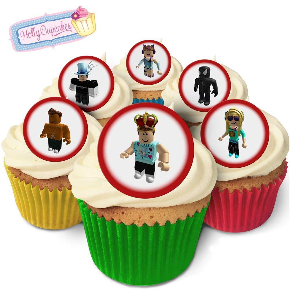 24 Fabulous Pre Cut Edible Wafer Cake Toppers Roblox Amazon Com