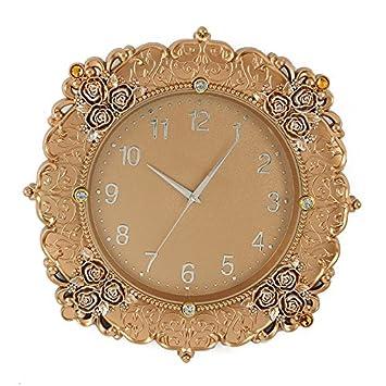 Relojes Relojes de pared Salón muy creativo Rose Reloj de pared: Amazon.es: Hogar