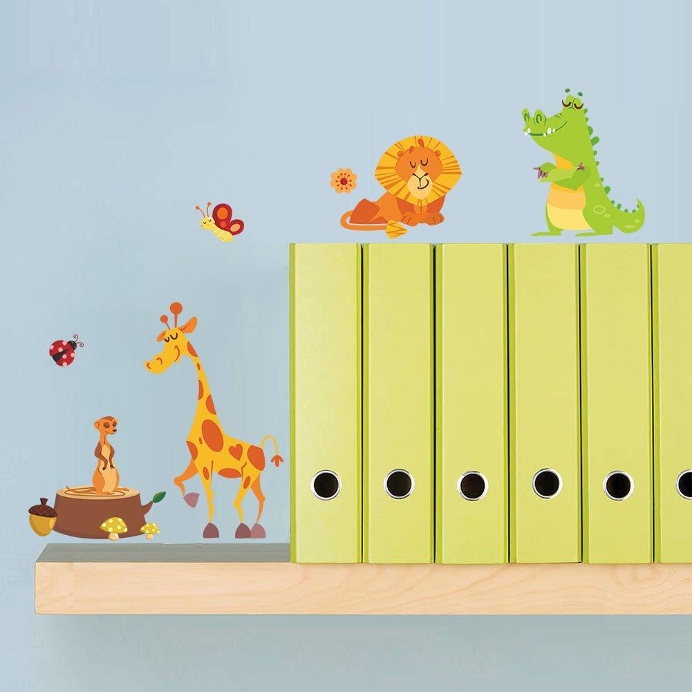 Amazon.com: Dekosh Jungle Animal Wall Decal Pack of Colorful ...
