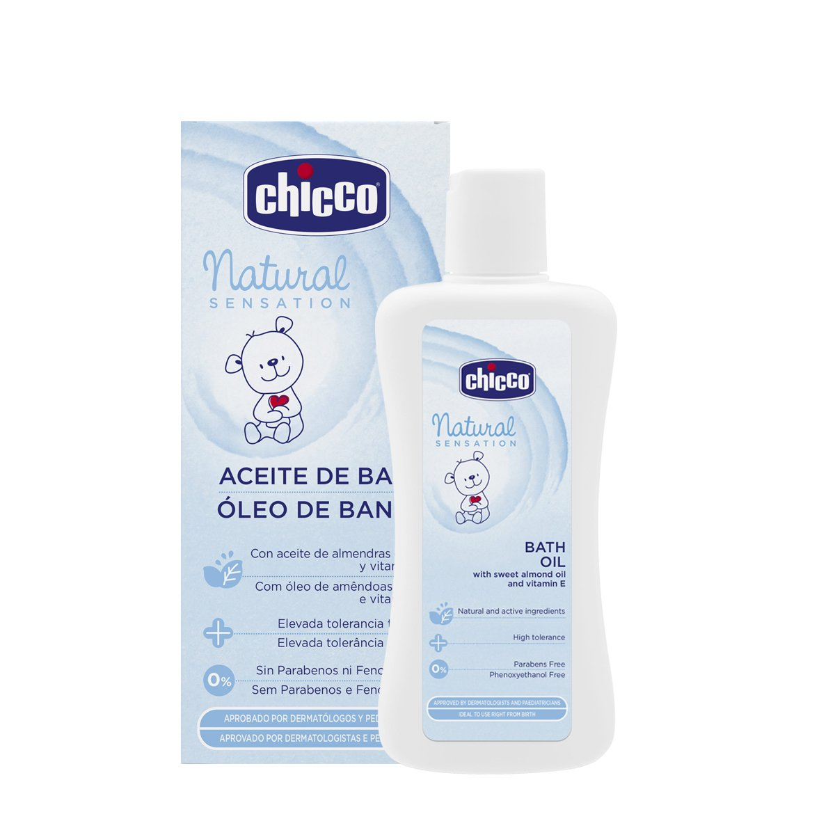 Chicco Natural Sensation - Aceite de baño, 200 ml