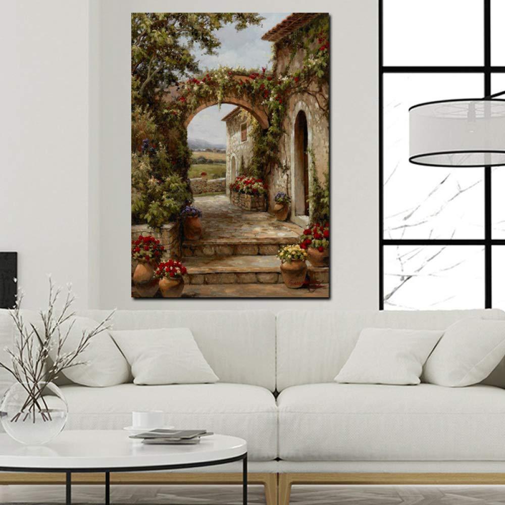 A2 20x30 cm kein Rahmen LiMengQi Kunst leinwand Poster abstrakt Garten Landschaft /ölgem/älde Wohnzimmer dekorative Wand