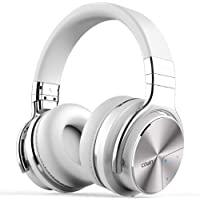 COWIN E7 PRO Active Noise Cancelling Headphones Bluetooth Headphones with Microphone/Deep Bass Wireless Headphones Over Ear 30H Playtime for Travel/Work/TV/Computer/Cellphone (White)