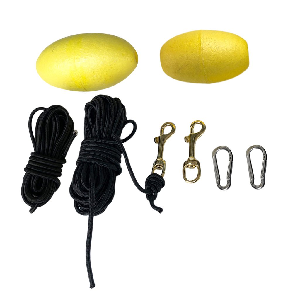 MagiDeal 8 Pieces 2 Set Kayak Drift Floating Anchor Buoy Tow Rope Throw Line Hook Bolt Snap Clip Accessories