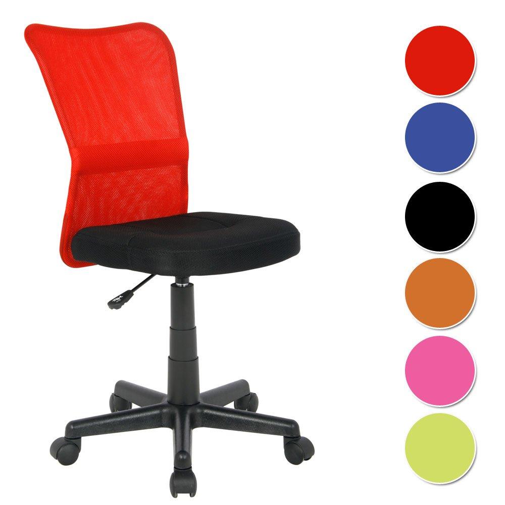 Sixbros Silla De Oficina Silla Giratoria Rojo Negro H 298f 1411  # Muebles Sixbros