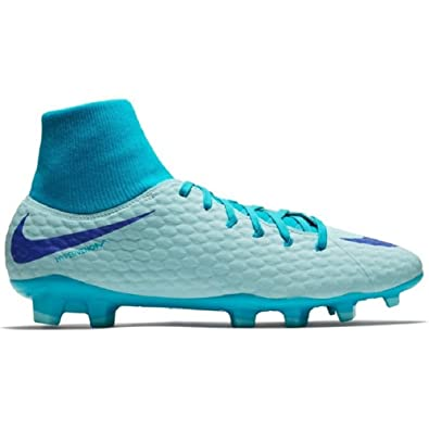 ad4ff46596e2 Amazon.com | Nike Phantom 3 Academy DF Dynamic fit Fg Firm Ground Soccer  Cleats-Blue Size: 10 | Soccer