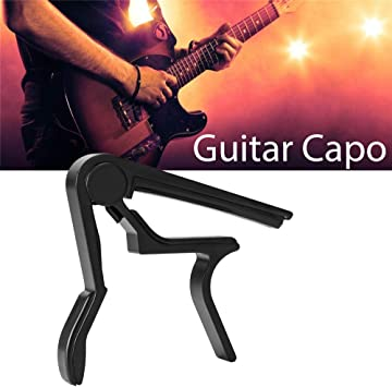SONICAKE Guitar Capo For Acoustic Electric Classical Ukulele Bass Mandolin Banjo Guitar W//H Pin Puller Black
