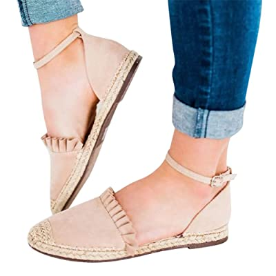 Gibobby Platform Sandals Espadrille,Women's Straps Platform Wedges Sandals Casual Summer Closed Toe Espadrilles Sandals: Clothing