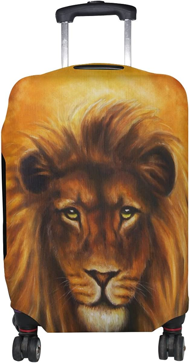 GIOVANIOR Lion Portrait Luggage Cover Suitcase Protector Carry On Covers