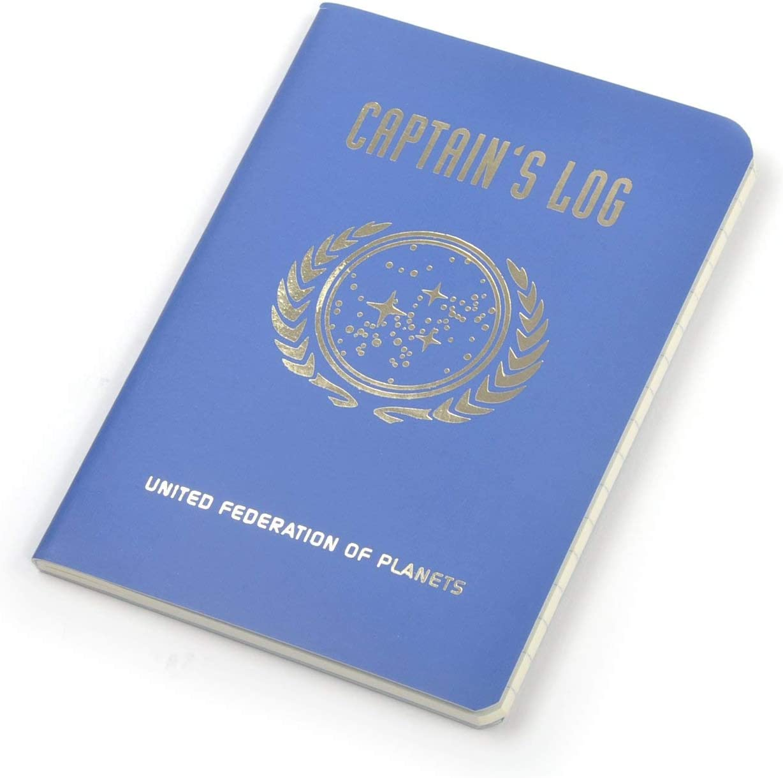 Grande Unemployed Philosophers Guild Star Trek-Taccuino con Scritta in Lingua Inglese Captain As Log