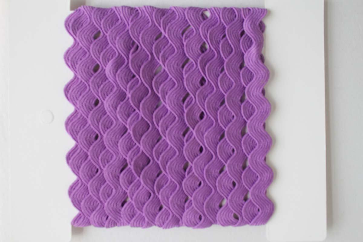 Rick Rack Trim 12mm Width Purple, 5M per Cards Ltd.