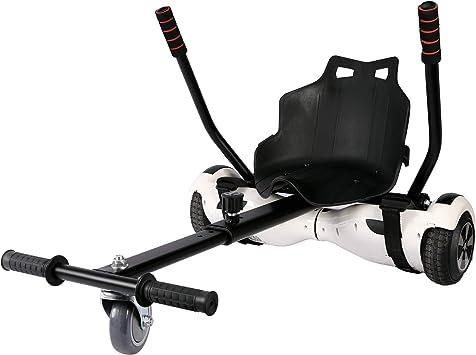 Sfeomi Hoverkart Silla para Hoverboard Electrico Hover Kart Ajustable para Patinete Eléctrico Asiento Kart Adaptarse a 6.5 8 10 Pulgadas Hoverboard Go Kart con Asiento para Niños y Adulto (Negro): Amazon.es: Deportes