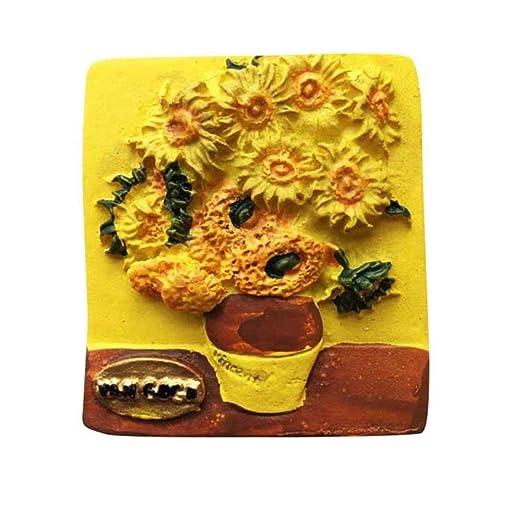 Soode 2 UNIDS Van Gogh Pintura Imán de Nevera Dibujo Creativo ...