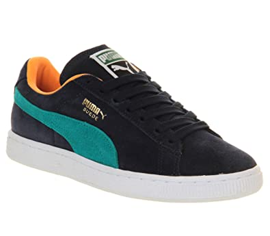 separation shoes f6f03 bda0b Puma Suede Classic Peacoat Blue Grass - 8 UK: Amazon.co.uk ...