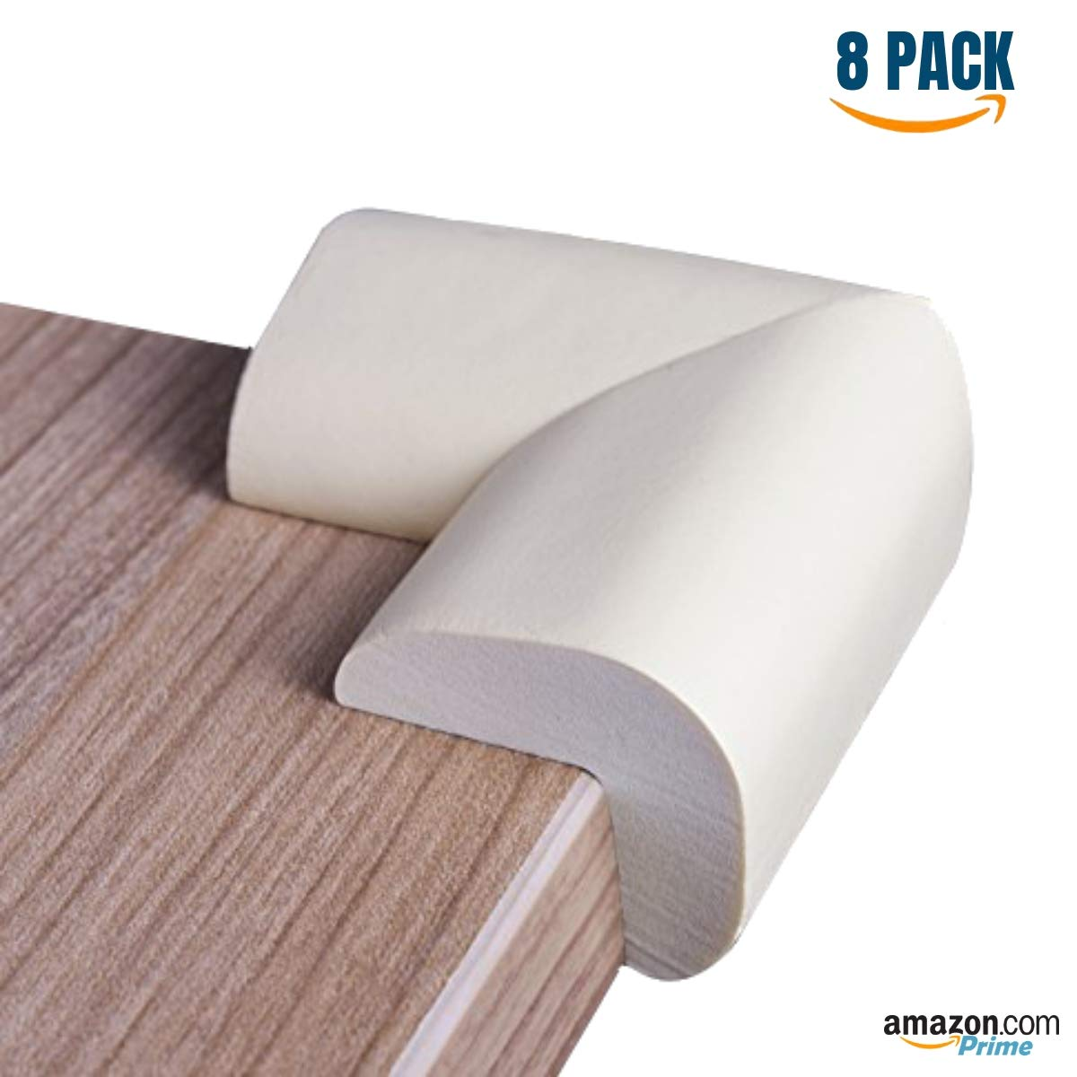 Safety Furniture Bumpers Foam Corner Protectors Pre-Applied Adhesive Sharp Corner Cushions Long Lasting Foam Caring Corner Guards by The Hamptons Baby White