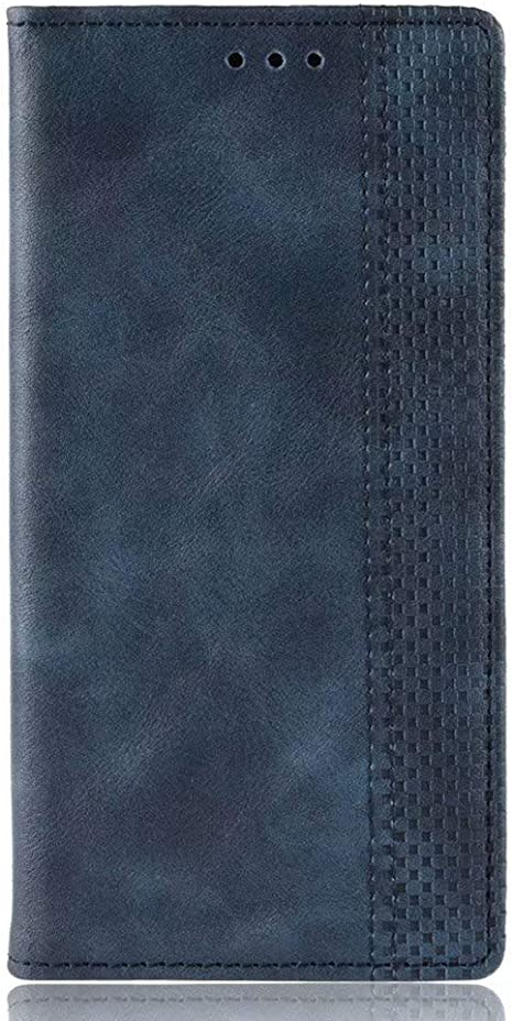Funda para Huawei P40 Lite Funda Libro, Cartera Estuche Antigolpes Golpes de Cuero con Libro de Cuero Flip Case, Carcasa PU Leather con TPU Silicona Case Interna Suave Cierre Magnético azul: Amazon.es: