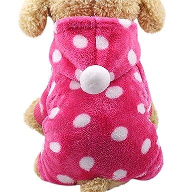 Walaka Chihuahua/Yorkshire/Bulldog Francés/Shih Tzu Animal de compañía Gato Cachorro Costume-Mignon coloré Vestido Abrigo Perro Gato Ropa: Amazon.es: ...