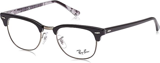 Endurecer aficionado Especificado  Ray-Ban RX5154 Clubmaster - Marcos cuadrados para anteojos: Amazon.com.mx:  Ropa, Zapatos y Accesorios