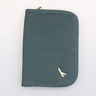 QHGstore Porta documenti del passaporto di corsa di credito Id Card Ticket Cash Grigio
