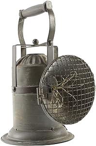 TG,LLC Treasure Gurus Old Metal Railroad Lantern Antique Style Mining Lamp Portable Light Rustic Decor