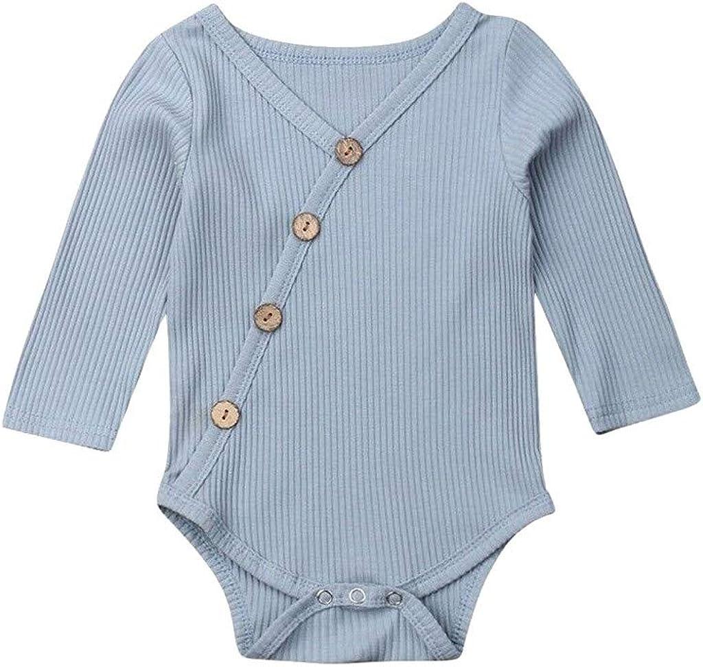 TWIFER Ropa Bebé Niñas Niños Manga Larga Mezcla de algodón ...