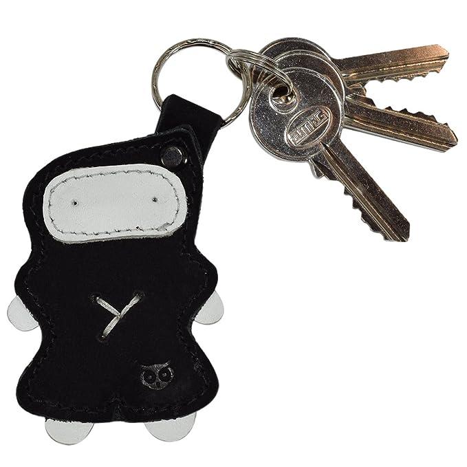 Ninja clave cadena llavero de cuero soporte hecho a mano por ...