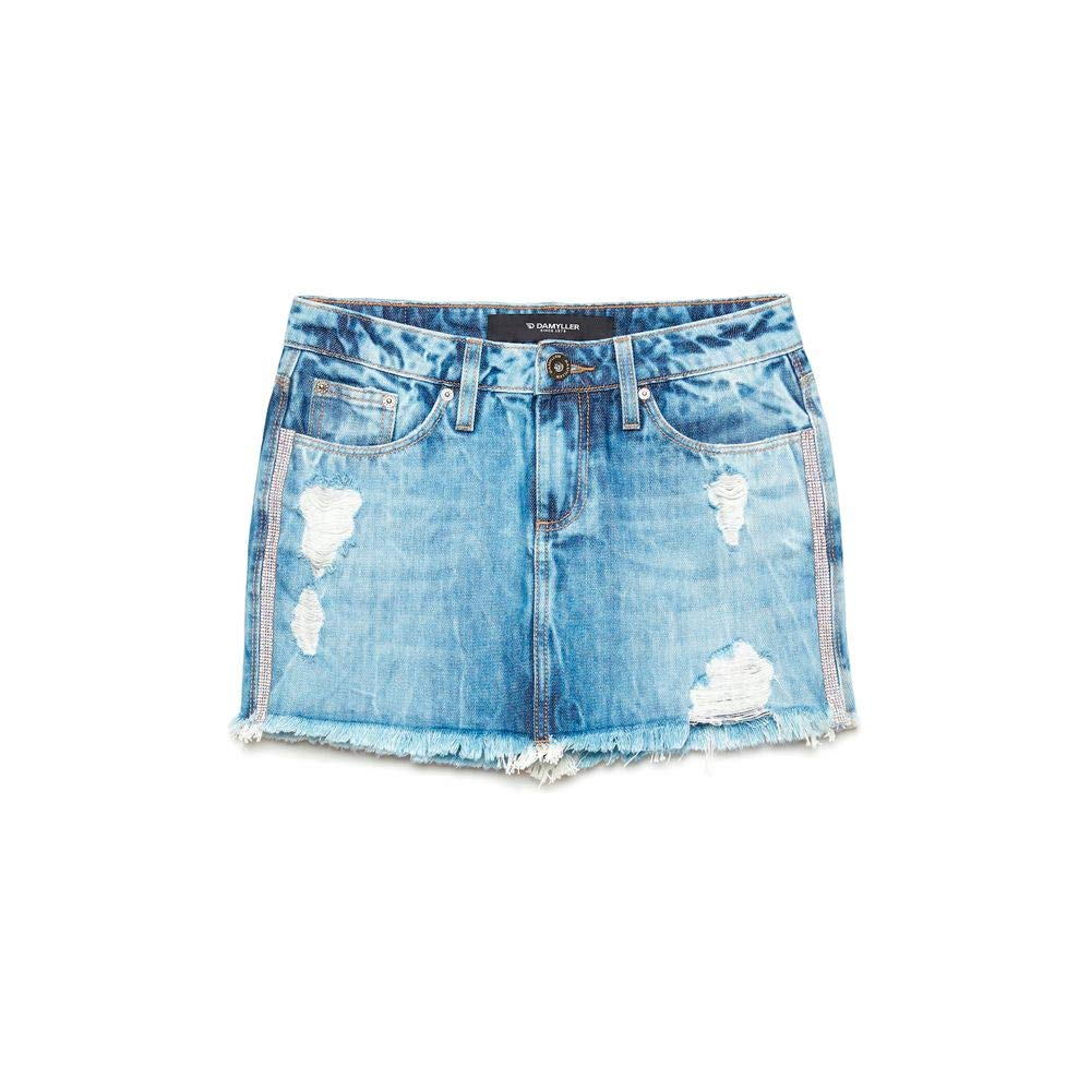 Saia Jeans Destroyed com Aplicações  Amazon.com.br  Amazon Moda 1bf956a2765