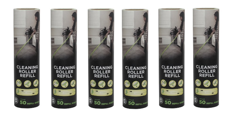 Leo Cleaning Roller Refill (6 Pack) for Pet's Hair Removal & Household Cleaning Great for Dog and Cat Hair