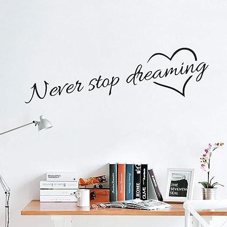 XIAOJIE0104 Nunca Deje de soñar Citas Inspiradoras Arte de ...