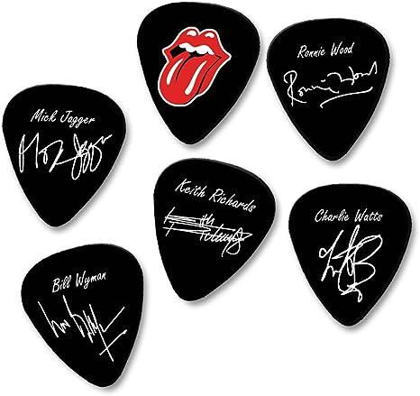 The Rolling Stones autógrafo firma impreso púa para guitarra púas ...