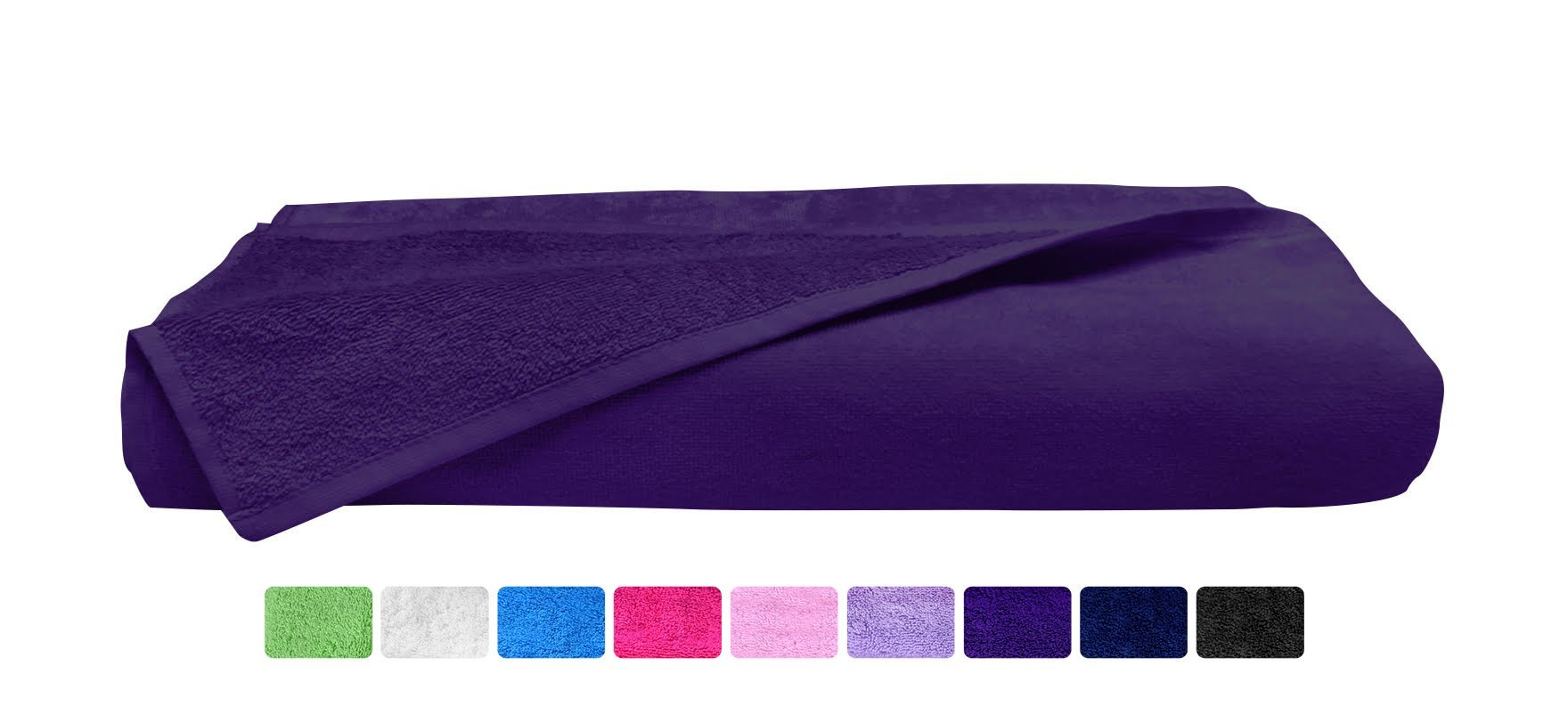 Beach Towel - Extra Large - Purple - %100 Soft Turkish Cotton ( 35'' x 59'' ) ( Hotel Spa Bath Collection ) - Absorbent, Quick-Dry Eco Friendly (Purple, Pack of 8 Towels)