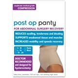 Post Op Panty High Waist: Compression Only (No Silicone) (S/M, nude)