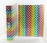 3D Design Binder with 2 Portfolio folders (Diamond Rainbow)