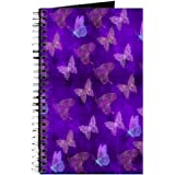 CafePress - Purple Butterflies - Spiral Bound Journal Notebook, Personal Diary, Dot Grid