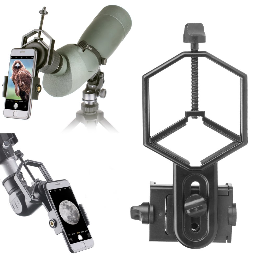 Landove Smartphone Adapter Mount for Spotting Scope Telescope Microscope Binocular Monocular - Adapter for Eyepiece Diameter 32mm to 62mm - for Phone Sony Samsung Moto Note Etc(Big Type) by Landove (Image #4)