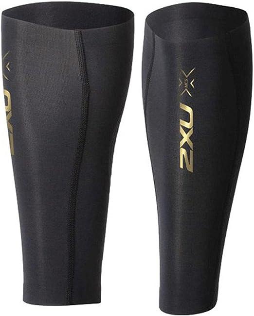 2XU Mens Womens Compression Black Sports Training Running Calf Guard Sleeve