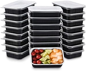 OTOR Meal Prep Containers 25 Sets Clear Airtight Lids 17oz Food Storage Container Lunch Boxes, Stackable Reusable Bento Boxes BPA Free Dishwasher, Microwave, Freezer Safe