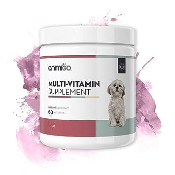 Suplemento Multivitamínico para Perros. 60 Comprimidos Masticables para Salud y Bienestar: Amazon.es: Productos para mascotas