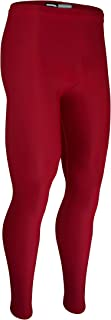 product image for HT-112 Men's and Women's Sports Compression Ankle Length Tight, Odor Resistant (X-Large, Red)