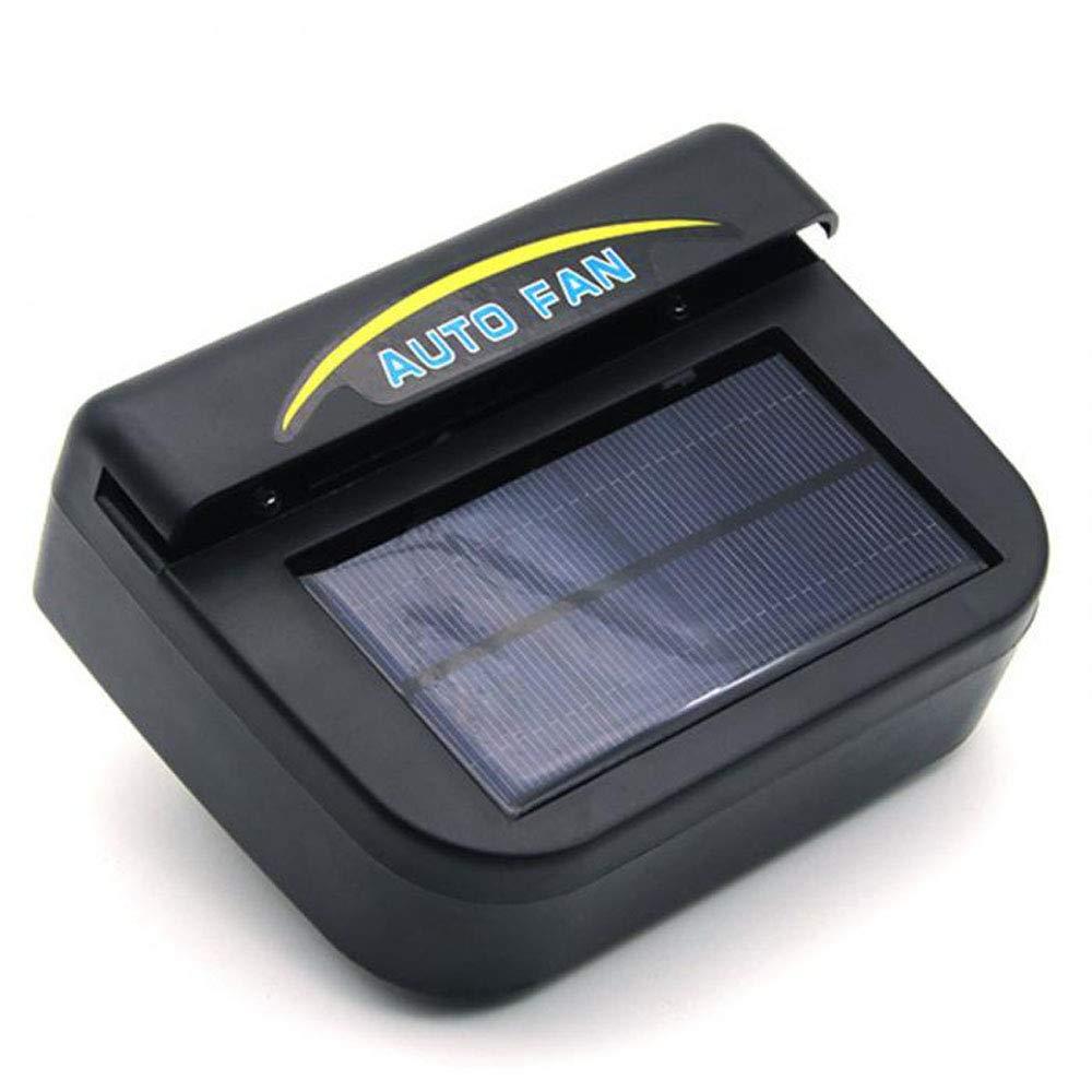 Solar Powered Car Window Windshield Auto Air Vent Cooling Fan Car Window Air Fan (Black)