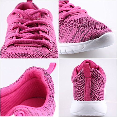 Sneakers Women's Lightweight Athletic Shoes Running Rose Casual CIOR Walking IEw56dnqIx