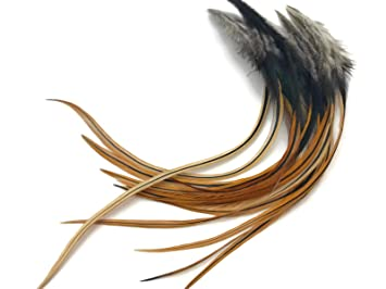 Angelsport-Fliegen-Bindematerialien Fly Tying Whiting Gold Rooster Saddle White #C